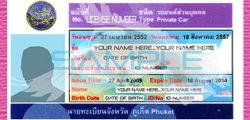 Thai Driving License